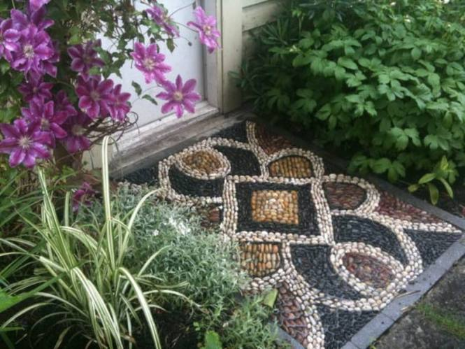 Pebble Mosaic Threshold Eclectic Landscape