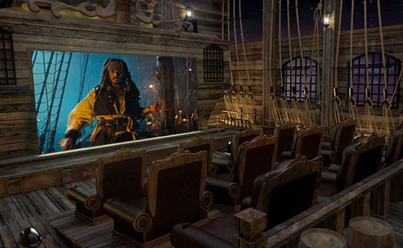 Pirates Inspired Home Theater