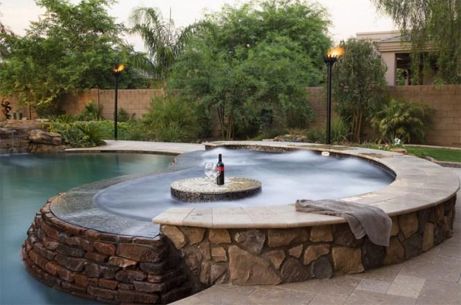 Pool Featuring Appalachian Field Stone Siding