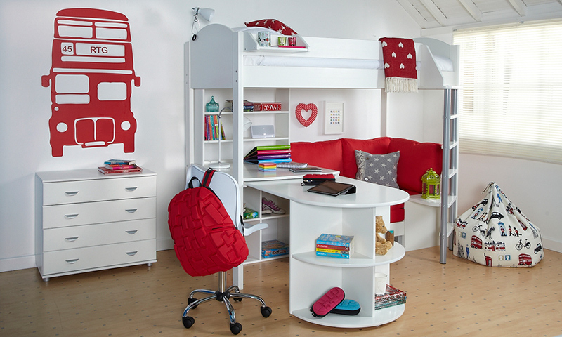 White And Red Bedroom