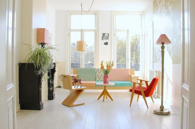 With Light Wooden Furniture