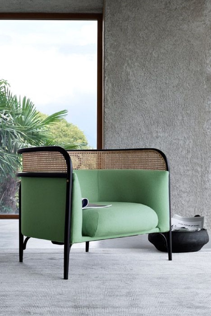 Modern Twist On A Lovely Bent Wood Rattan