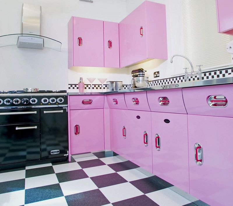 Attractive Retro Pink Kitchen