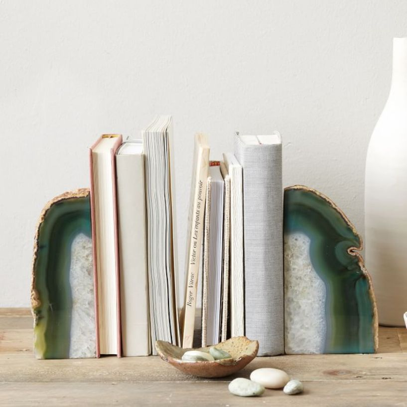 Charming Agate Booksend