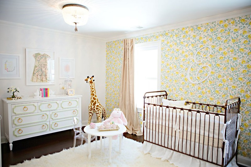 Cheery Florals Accent Wall
