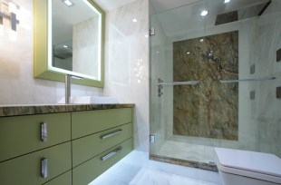 Condo Bathroom With Straight Edges