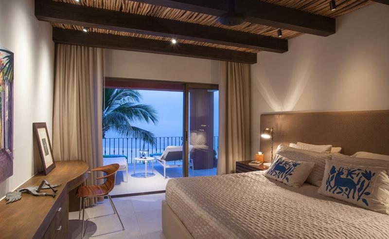 Condo Bedroom With Balconies