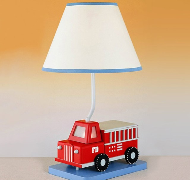 Fire Truck Table Lamp