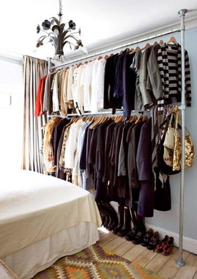 Iron Pipes Used For Open Closets