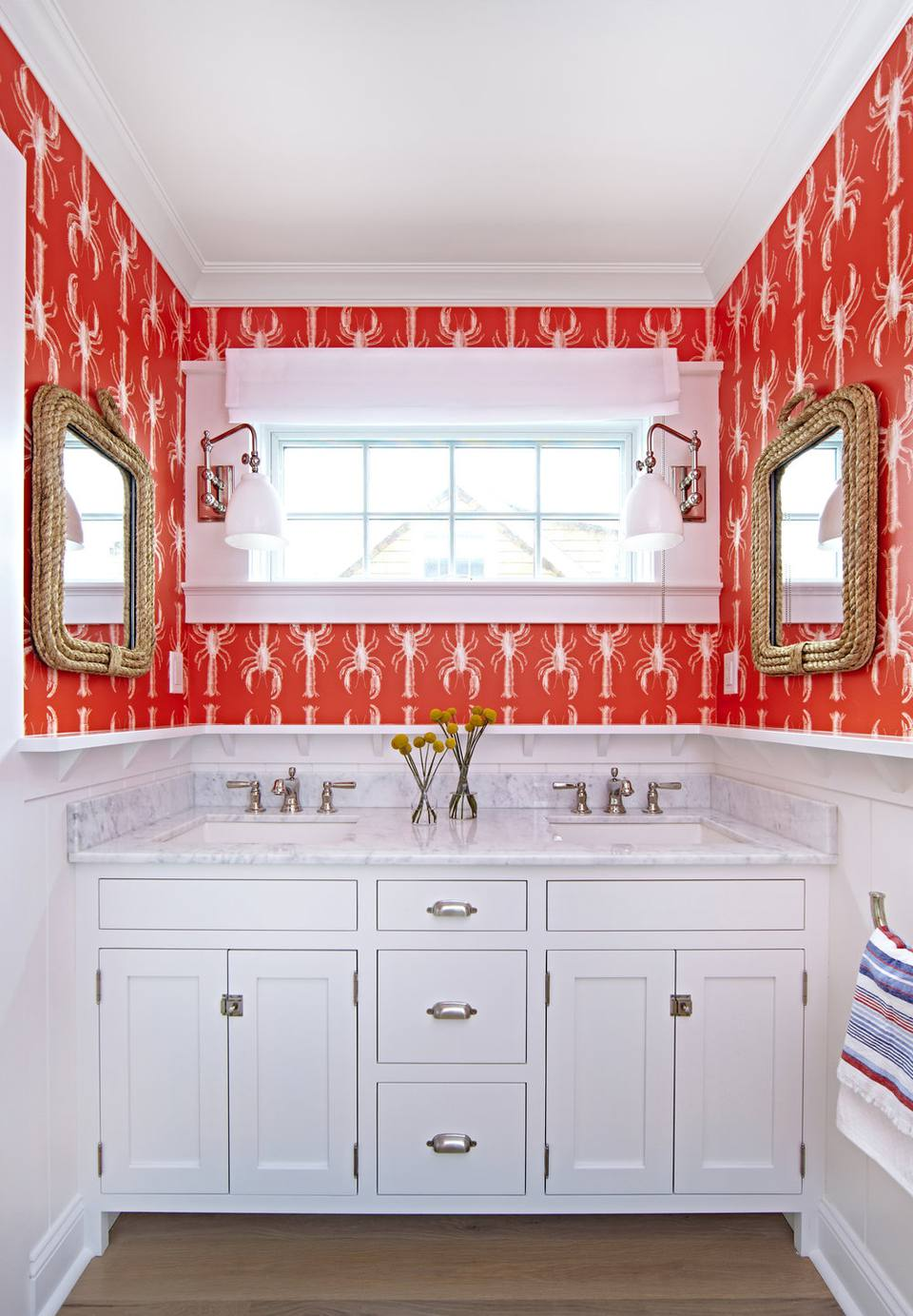 Lobster Patterned Wallpaper