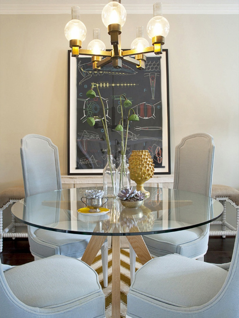 Luxurious White Dining Room