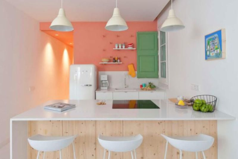 Minimalist Pink Kitchen