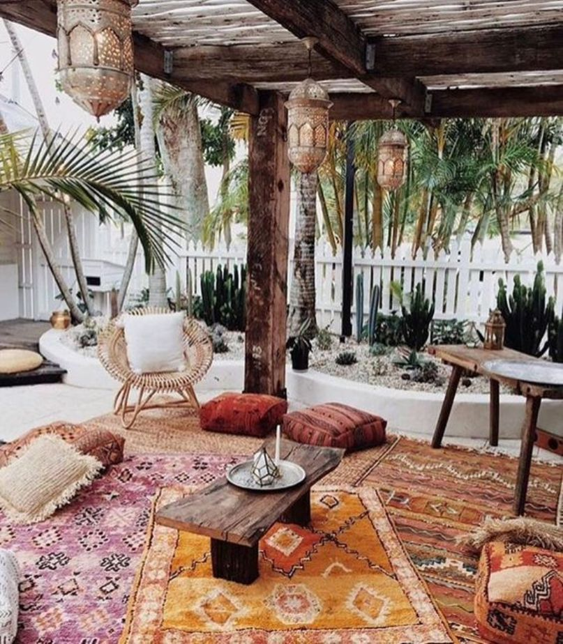 8 Ideas to Apply Moroccan Style for More Attractive Patio ... on Moroccan Backyard Design id=40093