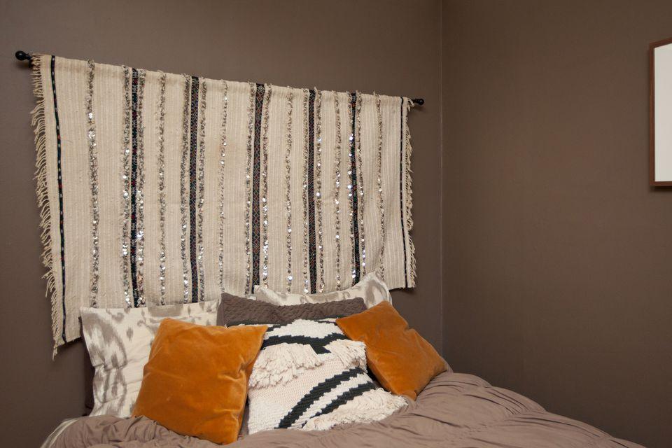 Moroccan Wedding Blankets As Headboard