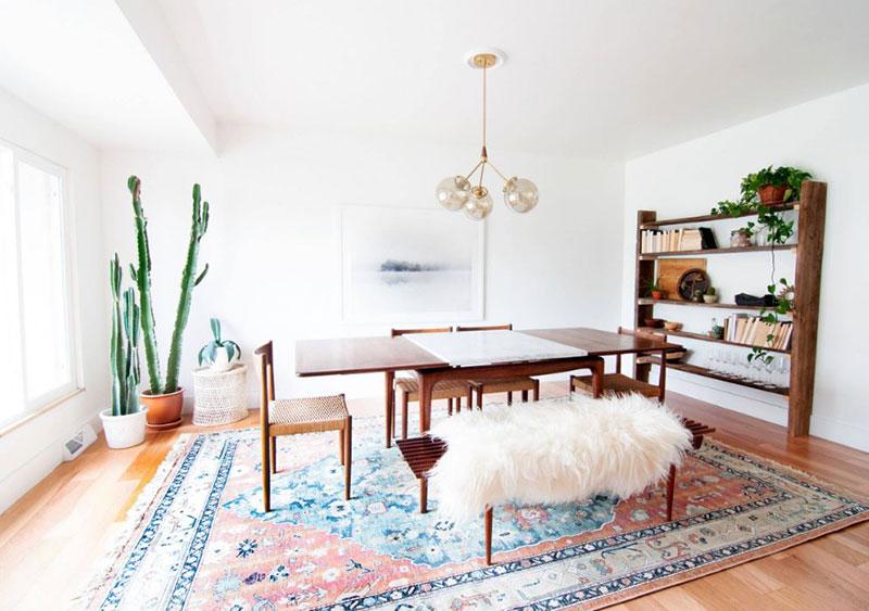 Organic Minimalist Dining Room