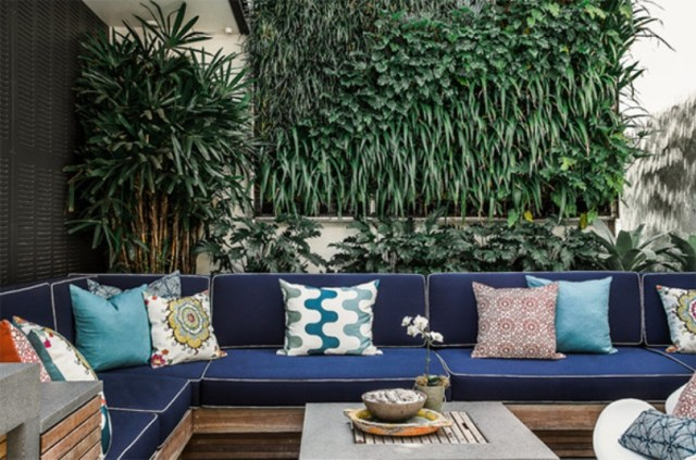 Outdoor Space With Living Wall
