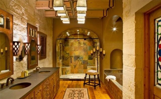 Rustic Mediterranean Bathroom