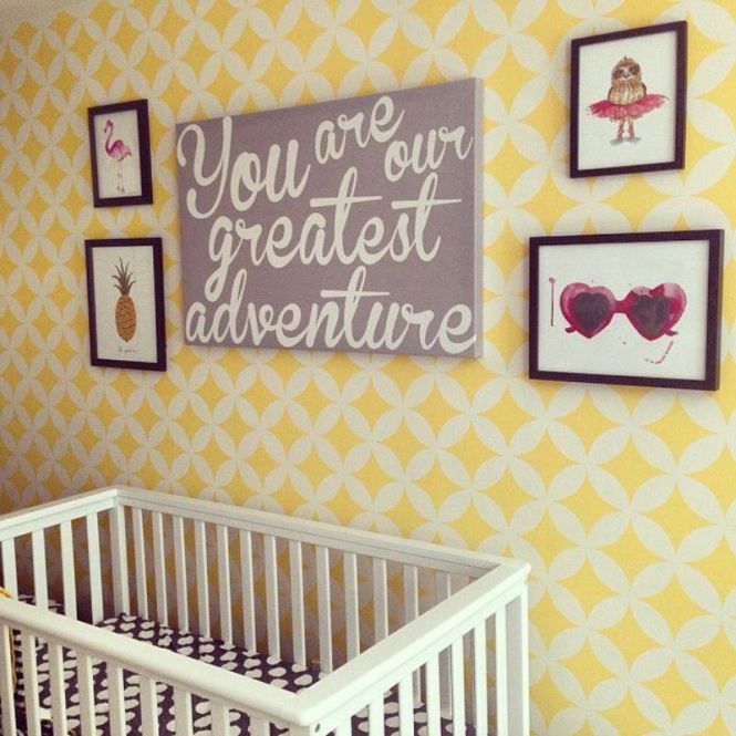 Stenciled Yellow Nursery