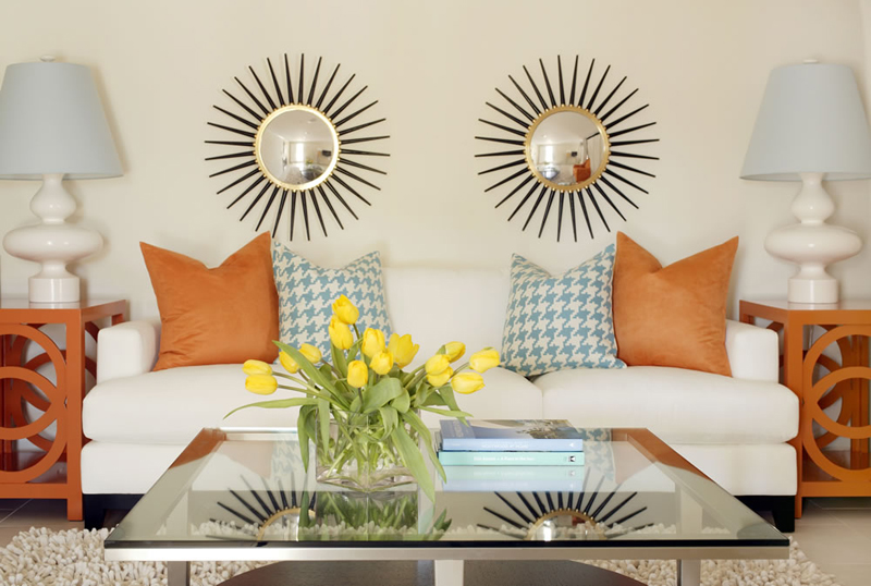 With Two Sunburst Mirrors