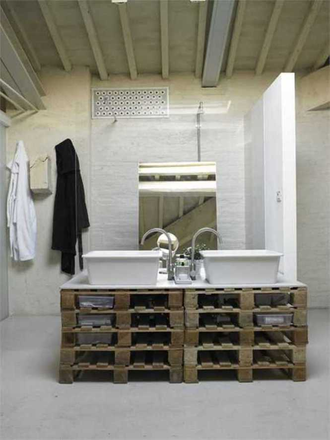 Wood Pallet For Bathroom Furniture