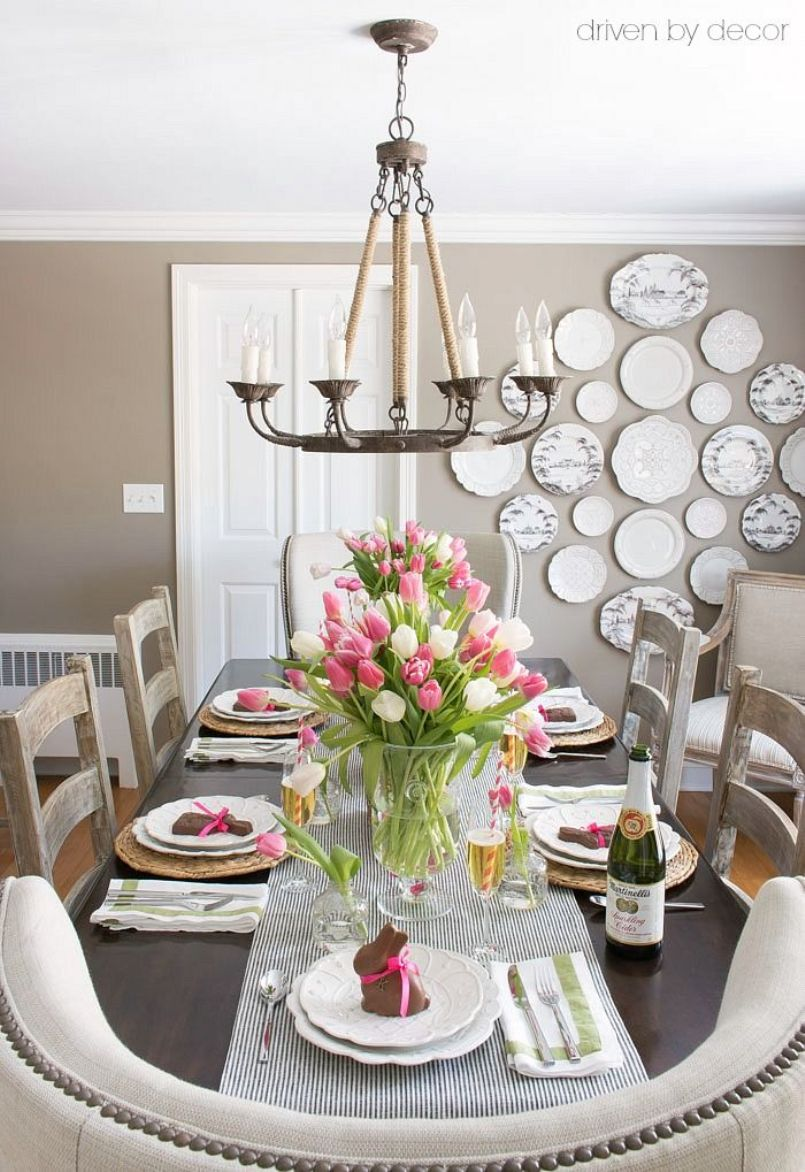 Easter Table With Big Vases