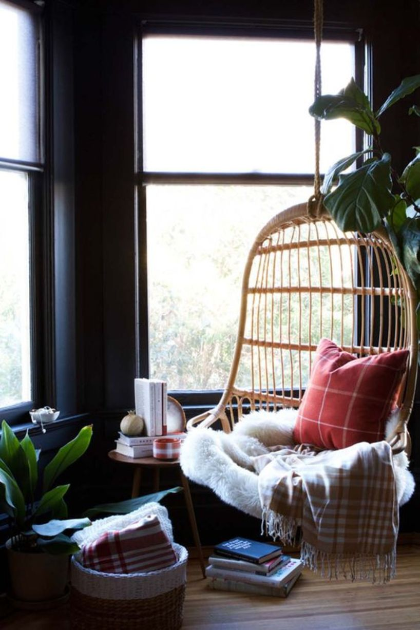 Hanging Rattan Birdcage Chair