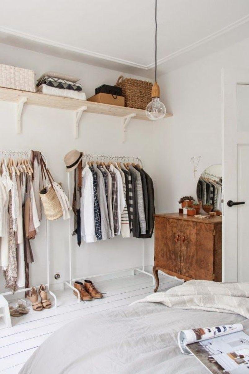 Stark White Clothes Storage
