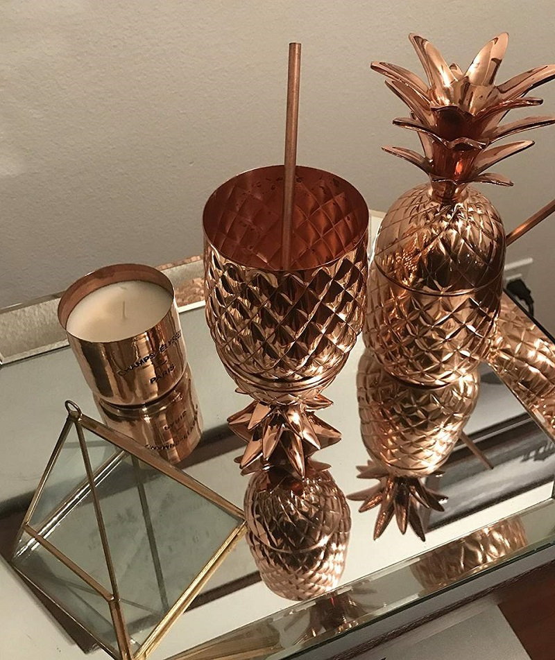 A Festive Copper Pineapple