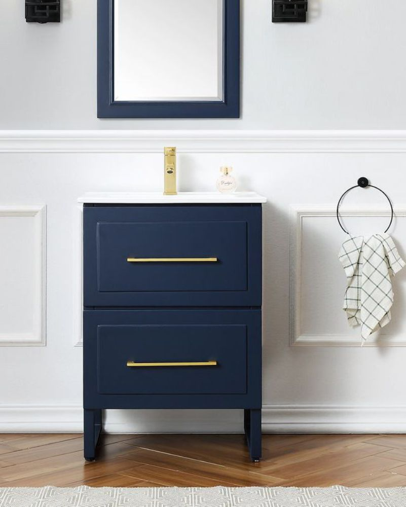 A Navy Blue Vanity