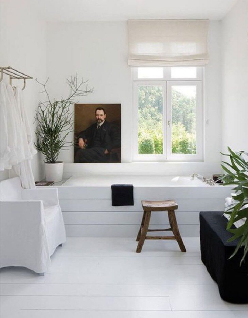 Bathroom With Portrait
