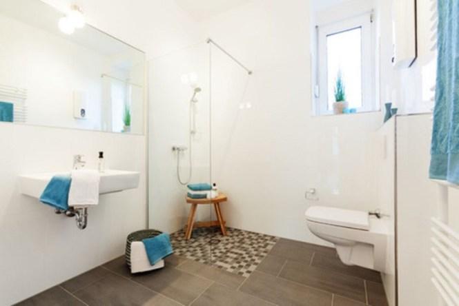 Blue Scandinavian Bathroom