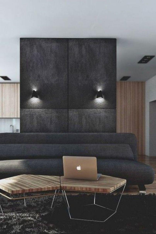 A Minimalist Masculine Living Room