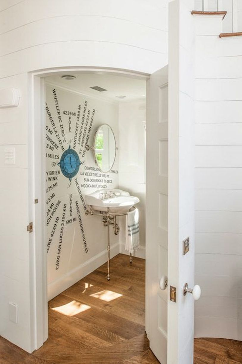 Creative Sea Inspired Powder Room