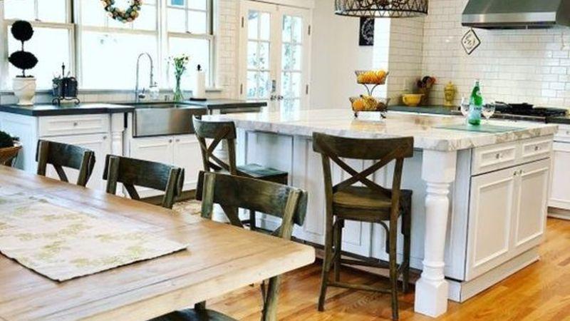 32 Adorable Fall Farmhouse Kitchen Ideas to Make it Really Match with the Season