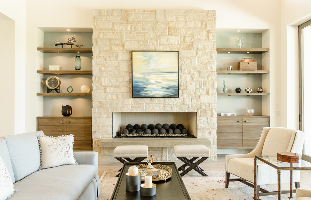 5 Stone Fireplace Designs for a Rustic-Style Living Room