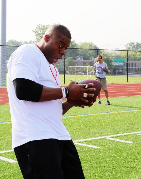 """""""Team Eagle"""" set to open a new field of dreams at East. Roland Williams '93 drops by for final summer tune up."""