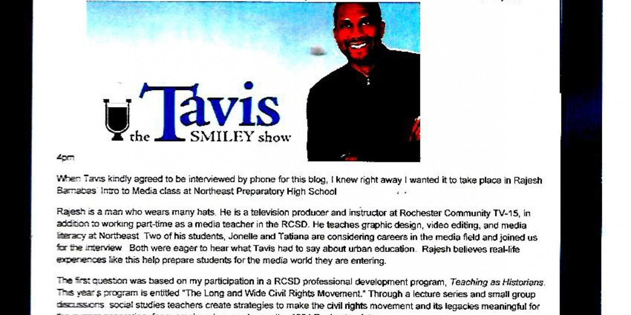 Tavis Smiley joins the conversation with Northeast Prep media students