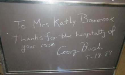 When President George H.W. Bush visited Wilson on May 18th, 1989