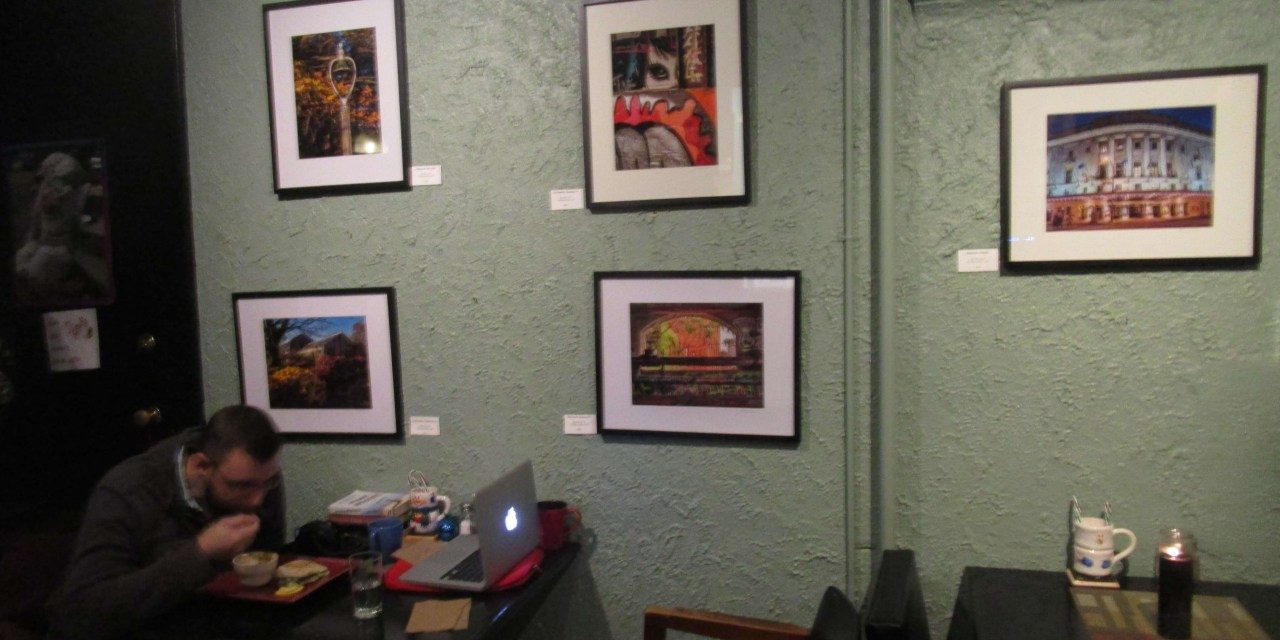 A portrait of a Rochester artist (Alex Hillis) at the Greenhouse Café. And a few minutes of South Wedge night life.