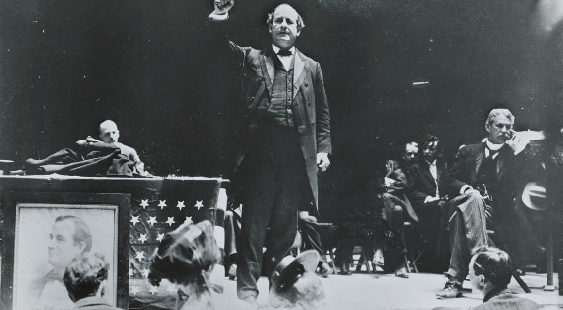 """""""Mr. Crane's Vivid Story"""" (scenes 1 – 14, at an Anti-Imperialist rally at Madison Square Garden and Pete's Tavern)"""