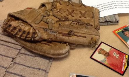On a Cal Ripken signed 1989 glove, prized possessions, and the Rundel Library