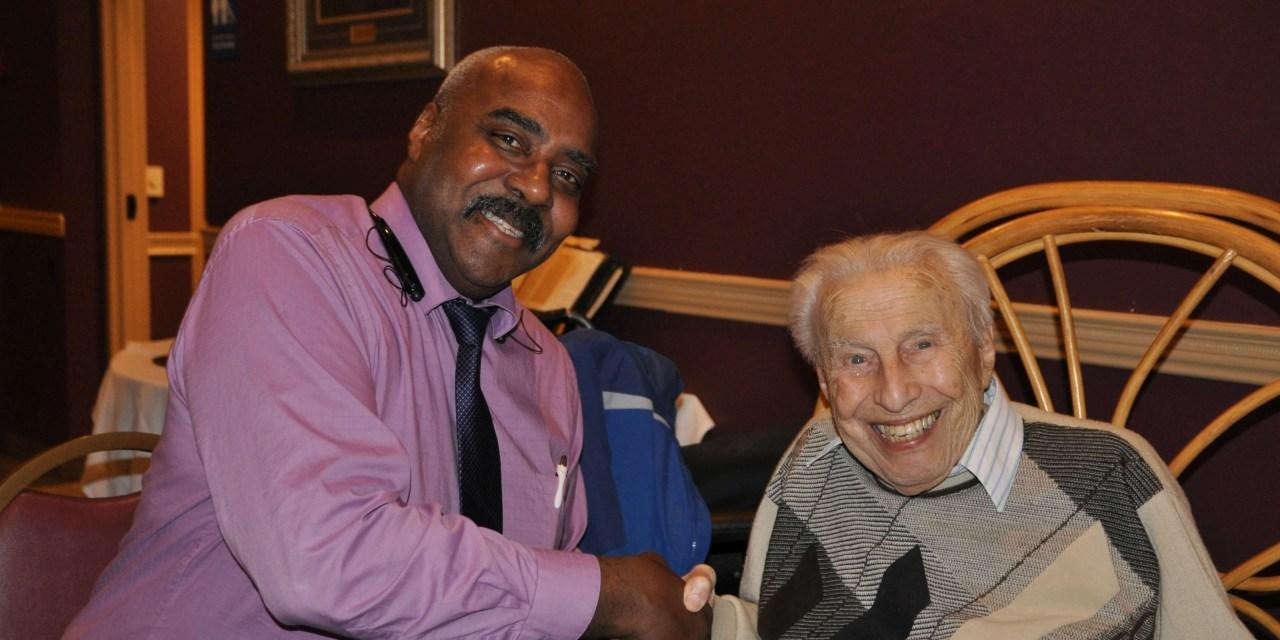 East High's oldest athlete, Morris Shapiro's (1913 – 2016) love of wrestling never waned