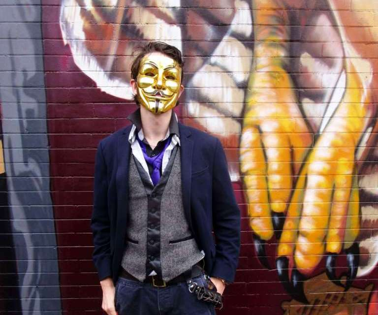 Who is this masked man, aka Lazerus?
