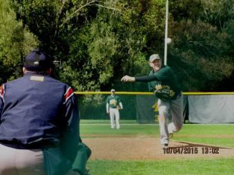 pitching darkened