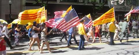 viet flags