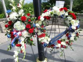 wreath at park