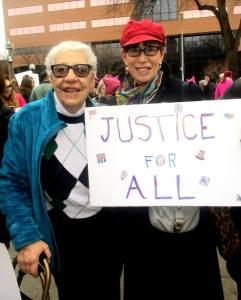 Rally pic 2 Karen and Lila