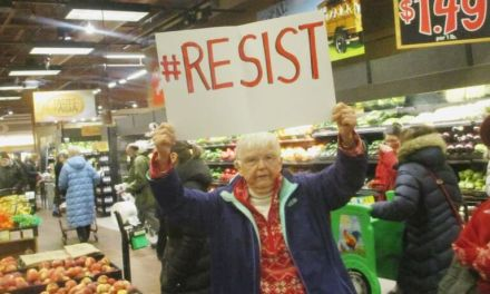 Singing resistance in the produce section in Wegmans