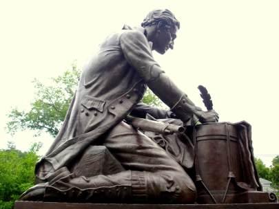 Tom Paine at Burnham Park, Morristown, NJ