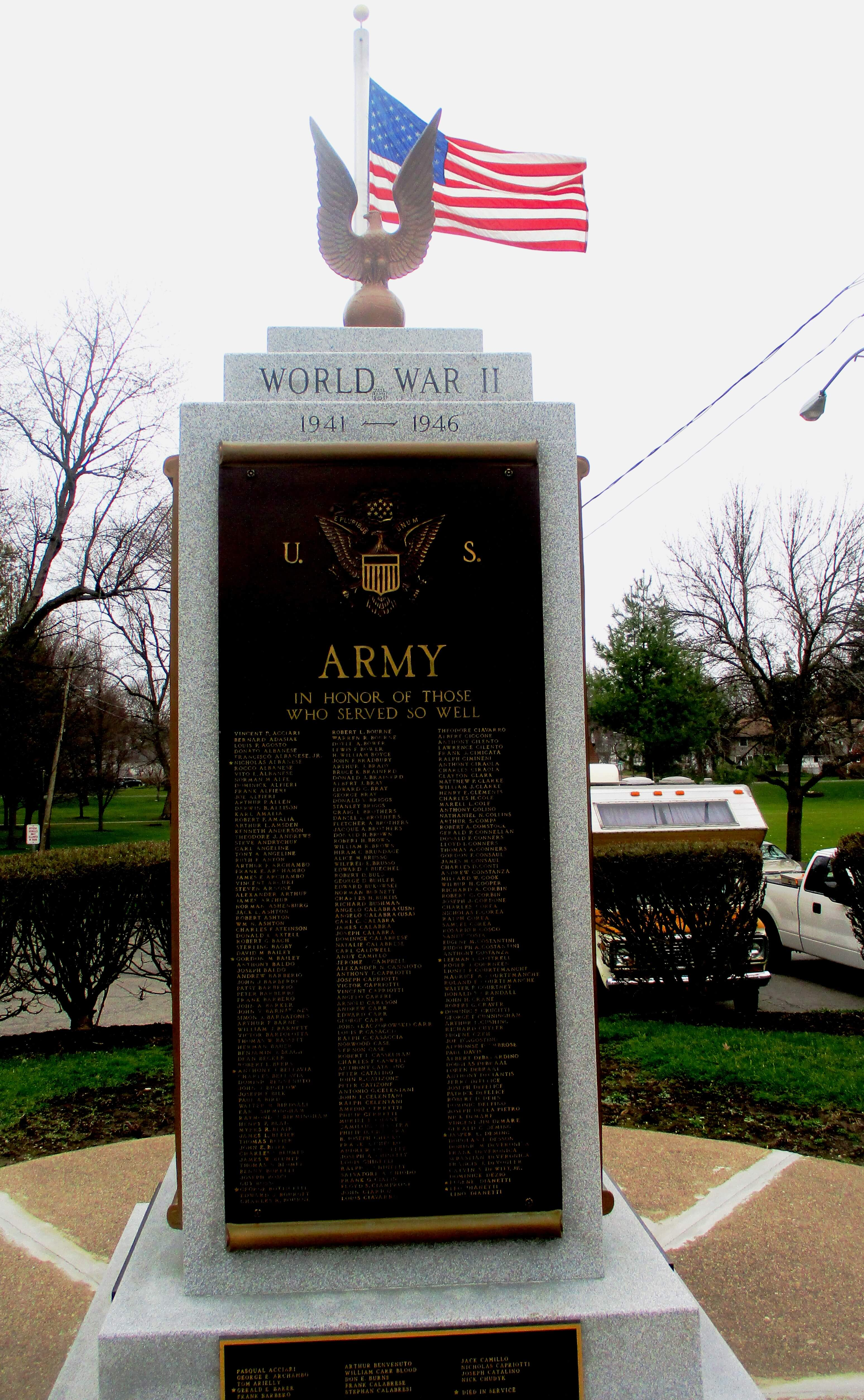 one hundred years ago when america entered the war to end all wars edmond lyons park east rochester world war ii monument 4 5 17